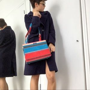 Vintage colorful corduroy Kate Spade bag